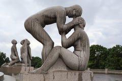 Sosta della scultura di Vigeland immagini stock libere da diritti