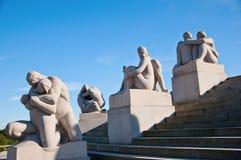 Sosta della scultura di Vigeland a Oslo Norvegia fotografie stock