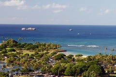Sosta della spiaggia dell'Hawai Immagini Stock