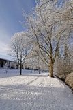 Sosta della stazione termale in inverno Fotografie Stock