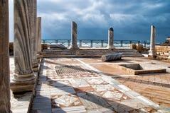 Sosta delle rovine, Israele di Cesarea Fotografia Stock Libera da Diritti