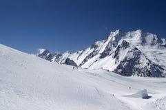 Sosta dello Snowboard. Stazione sciistica. Immagini Stock Libere da Diritti