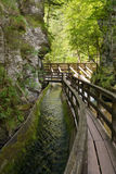 Sosta di avventura in Mendlingtal Fotografie Stock