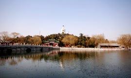 Sosta di Beihai (Pechino) Fotografia Stock