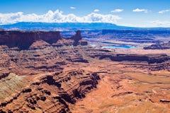 Sosta di condizione del punto del cavallo guasto nell'Utah Fotografia Stock