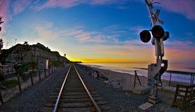 Sosta di condizione del San Clemente ad alba grandangolare Fotografia Stock
