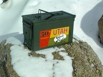 Sosta di condizione dell'Utah Geocache Fotografie Stock