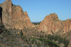 Sosta di condizione della roccia dello Smith - Terrebonne, Oregon Immagini Stock