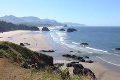 Sosta di condizione di Ecola, litorale dell'Oregon & Oceano Pacifico. Fotografia Stock