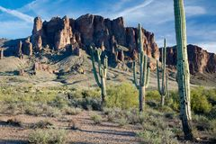 Sosta di condizione persa dell'olandese, Arizona Fotografia Stock