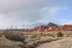 Sosta di condizione rossa della roccia Nevada Fotografie Stock Libere da Diritti