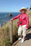 Sosta di condizione visualizzante di Ecola, litorale dell'Oregon. Fotografia Stock