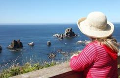 Sosta di condizione visualizzante di Ecola, litorale dell'Oregon. Fotografia Stock Libera da Diritti