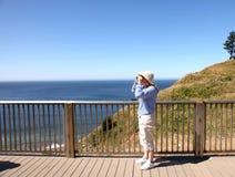Sosta di condizione visualizzante di Ecola, litorale dell'Oregon. Fotografie Stock Libere da Diritti
