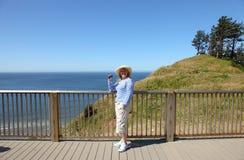 Sosta di condizione visualizzante di Ecola, litorale dell'Oregon. Fotografie Stock