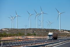 Sosta di energia di vento Fotografie Stock