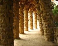 Sosta di Guell di Barcellona Gaudi Fotografie Stock Libere da Diritti