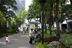Sosta di Hong Kong Fotografia Stock