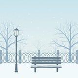 Sosta di inverno illustrazione di stock