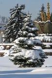 Sosta di inverno a Mosca (mostra Cente della Tutto-Russia Fotografia Stock Libera da Diritti