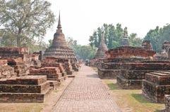 Sosta di storia di Wat Mahathat Fotografia Stock