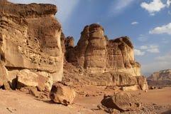 Sosta di Timna, deserto di Arava Fotografie Stock Libere da Diritti