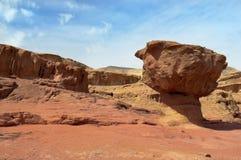 Sosta di Timna, deserto montagnoso Fotografia Stock Libera da Diritti