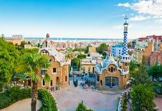 Sosta Guell a Barcellona Immagine Stock Libera da Diritti