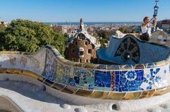 Sosta Guell, Barcellona fotografia stock