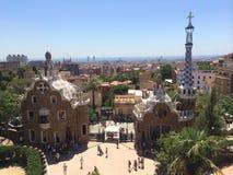 Sosta Guell a Barcellona, Spagna Fotografia Stock Libera da Diritti