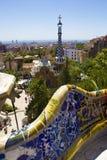 Sosta Guell a Barcellona, Spagna Immagini Stock Libere da Diritti