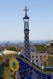 Sosta Guell a Barcellona, Spagna Immagine Stock