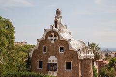 Sosta Guell a Barcellona, Spagna Immagine Stock Libera da Diritti