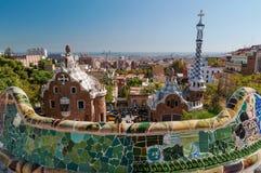 Sosta Guell, Barcellona - Spagna fotografia stock libera da diritti