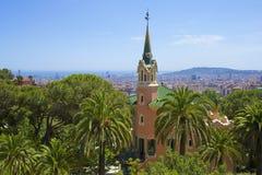 Sosta Guell a Barcellona, Spagna Immagini Stock