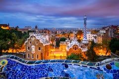 Sosta Guell a Barcellona, Spagna fotografie stock libere da diritti