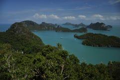 Sosta marina nazionale di Angthong, Tailandia Immagini Stock