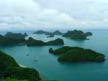 Sosta marina nazionale di Angthong, Tailandia Fotografia Stock Libera da Diritti