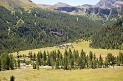 Sosta naturale di Alpe Veglia Fotografie Stock Libere da Diritti