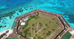 Sosta nazionale asciutta di Tortugas florida Jefferson forte U.S.A. stock footage