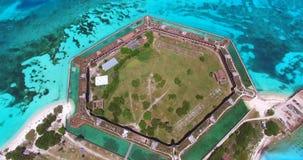 Sosta nazionale asciutta di Tortugas florida Jefferson forte U.S.A. archivi video