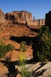 Sosta nazionale degli archi rossi delle rocce immagine stock
