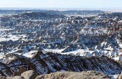 Sosta nazionale dei calanchi nel Dakota del Sud, S.U.A. immagine stock