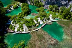 Sosta nazionale dei laghi Plitvice Immagine Stock Libera da Diritti
