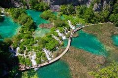 Sosta nazionale dei laghi Plitvice Fotografie Stock Libere da Diritti