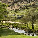 Sosta nazionale del distretto di punta dell'Inghilterra Derbyshire Immagine Stock Libera da Diritti