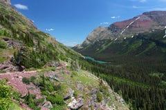 Sosta nazionale del ghiacciaio nel Montana Immagine Stock Libera da Diritti