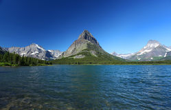 Sosta nazionale del ghiacciaio nel Montana Fotografie Stock