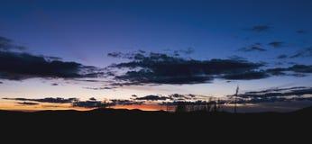 Sosta nazionale del Yellowstone di tramonto Immagine Stock