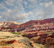 Sosta nazionale della scogliera capitale del canyon del fiume di Fremont Fotografie Stock Libere da Diritti